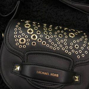Michael Kors Black and Gold Crossbody SLIGHT WEAR
